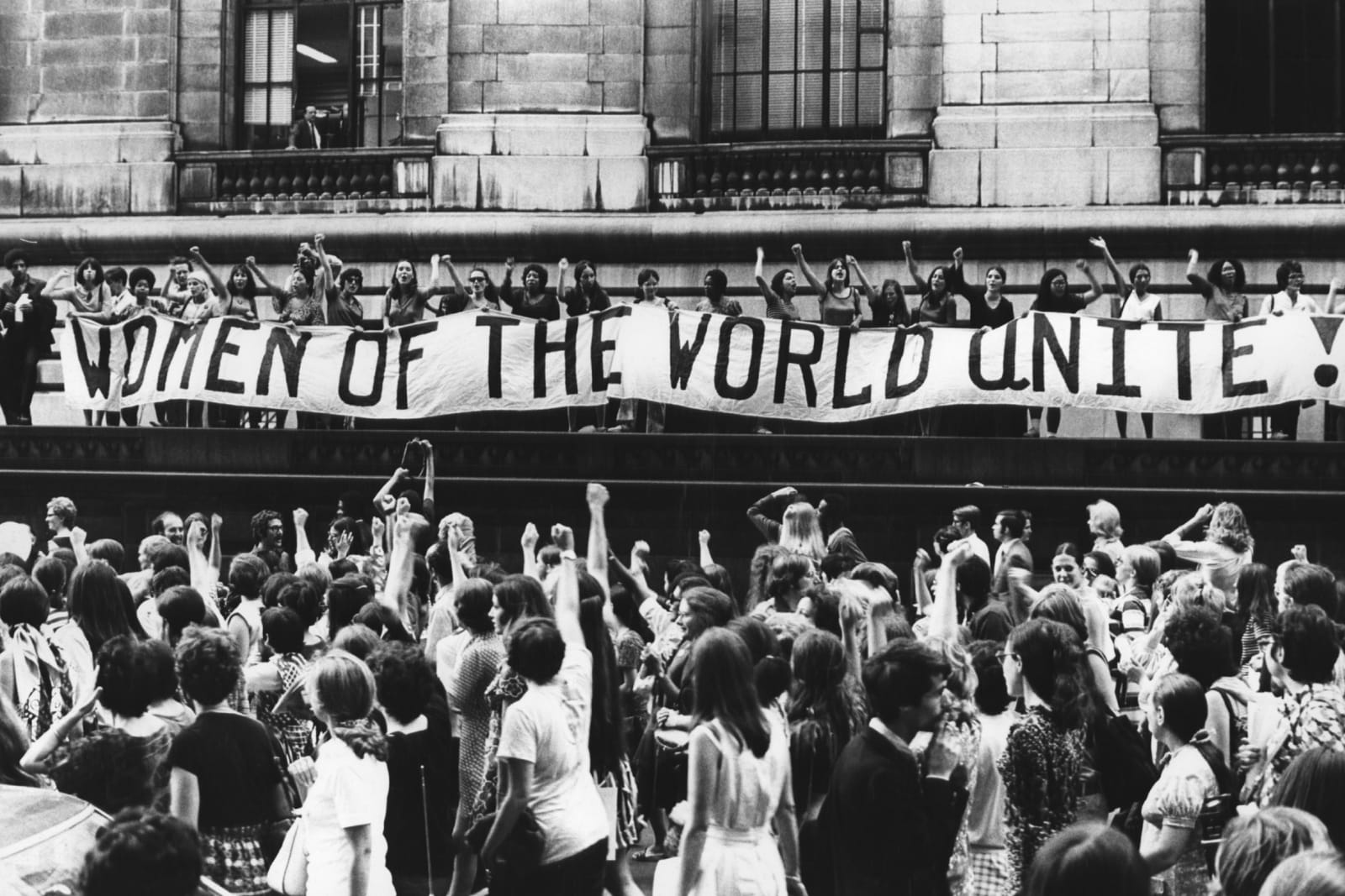 women of the world unite. feminist march '68
